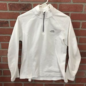 The North Face Quarter Zip White Fleece M